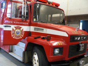 A New Westminster fire truck. Photo: Will Tomkinson
