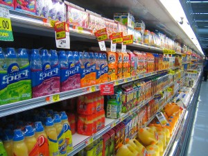 The grocery aisle at Wal-Mart. Photo: ratterrell (via Flickr)