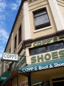 Copp's Shoes on Columbia St. Photo: Dennis Sylvester Hurd.