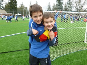 A couple of happy Royal City Youth Soccer players. Photo: Tayfun Ozdemir.