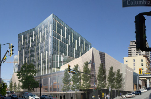 An artist's rendering of the new Civic Centre and Office Space. Source: City of New West.