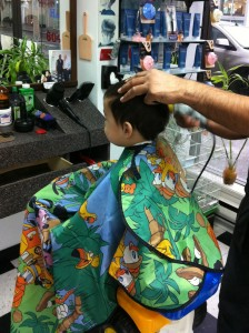Agnes Barber & Stylist is the best place to bring a squirmy toddler for a haircut!