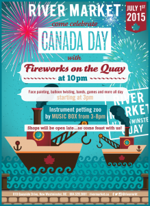 Canada Day fireworks are at the New Westminster Quay on July 1, 2015