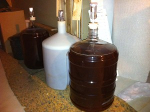 Carboys and other specialty equipment are required to brew beer. Photo: Shaye Hoobanoff.