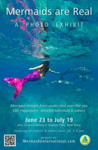 Mermaids Are Real: A photography exhibit presented by the Arts Council, June 23 - July 19.