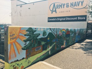 This community mural has brightened up a dull corner of Columbia street.