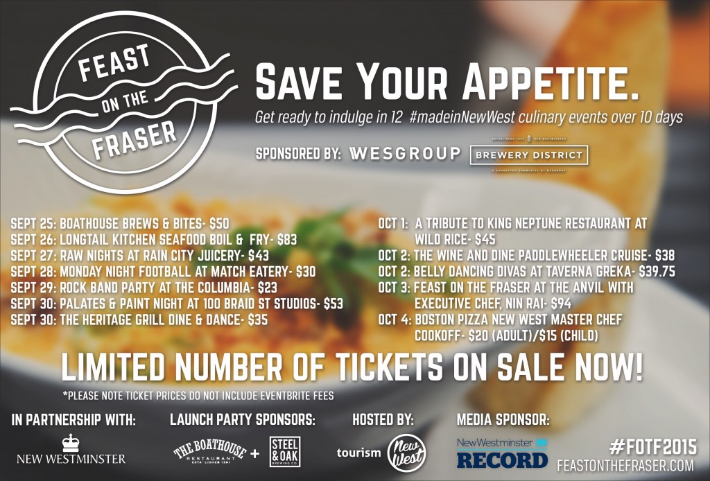 The full list of Feast On The Fraser events.