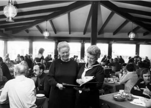 King Neptune owner Jean A in the dining hall of the restaurant. Photo: New Westminster Museum & Archives