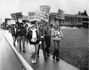 Citizens protested the closure of the King Neptune. Photo: New Westminster Museum & Archives.