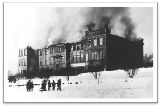 Richard McBride School Burning 6 February, 1929 NWPL 145
