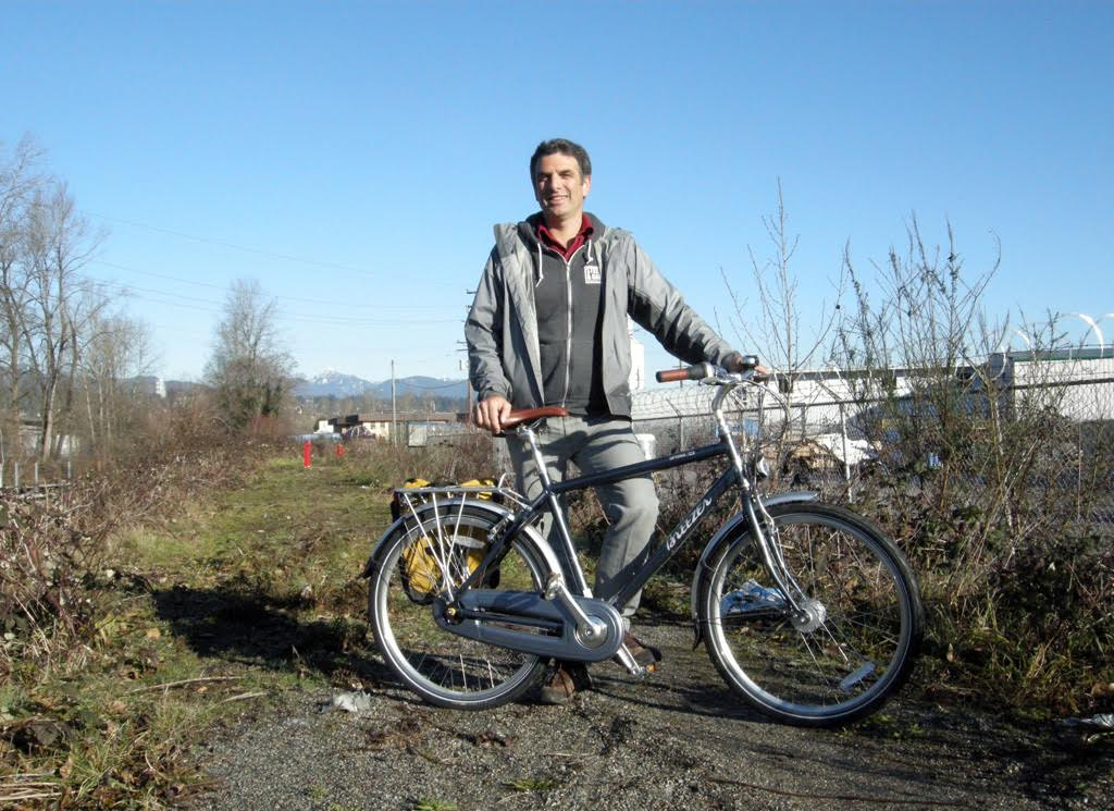 MARIO BARTEL New Westminster councillor Patrick Johnstone says the city is working on closing gaps in the cycling infrastructure. Work will begin this spring on finishing the Brunette-Fraser Greenway through the Braid industrial corridor.