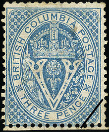 1865 British Columbia Stamp