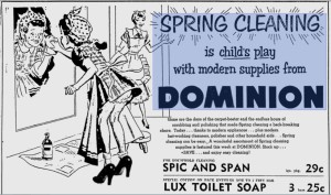 1953 Spring Cleaning Childs Play Ad