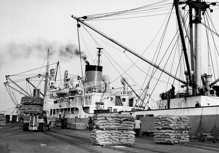 New West docks circa 1955 NWPL 675