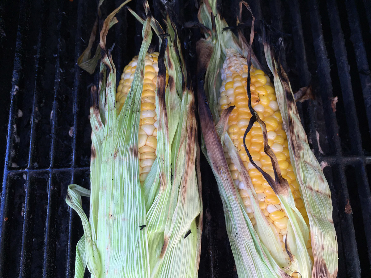 Not only smoky, the sweetness really came through on the grilled corn too.